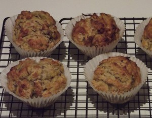 Knotweed muffins.  Recipe was for rhubarb muffins, with the knotweed directly replacing the rhubarb.  And no, I didn't bake them.  Thanks to Cathy Relf (@CaffyRelf) for that!